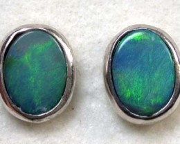 GREEN SHIMMER FLASH DOUBLET EARRING 6.10 CTS SCA665