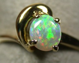 CRYSTAL OPAL RING 18K   GOLD  RING  SIZE 6   SCA 745