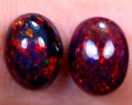 1.46cts Natural Ethiopian Smoked Welo Opal Earing Pairs / NY1279