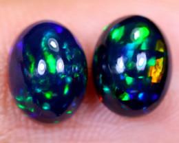 1.91cts Natural Ethiopian Smoked Welo Opal Earing Pairs / NY1289