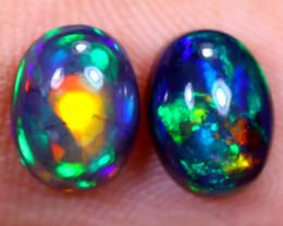 1.70cts Natural Ethiopian Smoked Welo Opal Earing Pairs / NY1290