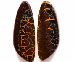 23.25 CTS  BOULDER OPAL PAIR   RO-1068