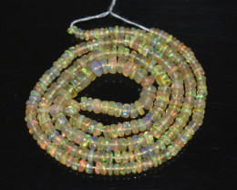 30.75 Ct Natural Ethiopian Welo Opal Beads Play Of Color OB230
