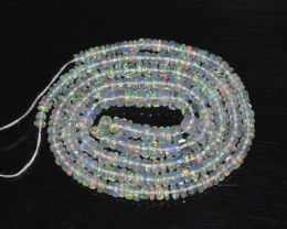 28.10 Ct Natural Ethiopian Welo Opal Beads Play Of Color OB235