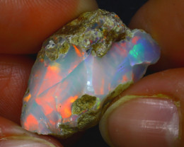 20.74Ct Multi Color Play Ethiopian Welo Opal Rough JR177/R2