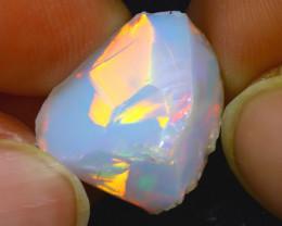 11.30Ct Multi Color Play Ethiopian Welo Opal Rough JR183/R2
