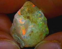 18.93Ct Multi Color Play Ethiopian Welo Opal Rough JR197/R2