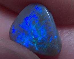 1.32ct Lighting Ridge Solid dark Opal Muitiple Gem colors