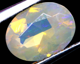0.75 CTS LIGHTNING RIDGE FACETED CRYSTAL OPAL TBO-A2785