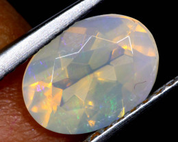 0.85 CTS LIGHTNING RIDGE FACETED CRYSTAL OPAL TBO-A2786