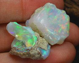 Welo Rough 20.22Ct Natural Ethiopian Play Of Color Rough Opal C0103