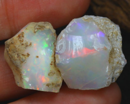 Welo Rough 24.50Ct Natural Ethiopian Play Of Color Rough Opal C0105