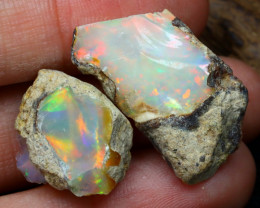 Welo Rough 24.19Ct Natural Ethiopian Play Of Color Rough Opal C0111