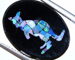 5.8 CTS MOSAIC OPAL INLAY CALIBERATED KANGAROO LO-6560