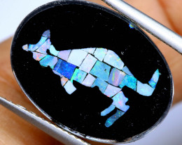 5.8 CTS MOSAIC OPAL INLAY CALIBERATED KANGAROO LO-6572