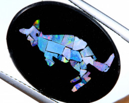 5.8 CTS MOSAIC OPAL INLAY CALIBERATED KANGAROO LO-6574