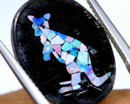 5.8 CTS MOSAIC OPAL INLAY CALIBERATED KANGAROO LO-6576