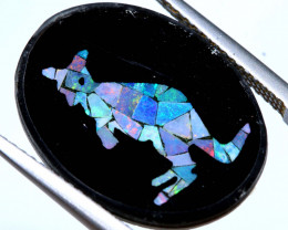 5.8 CTS MOSAIC OPAL INLAY CALIBERATED KANGAROO LO-6579