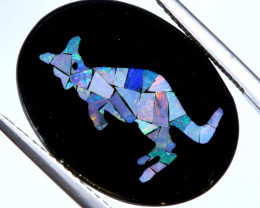 5.8 CTS MOSAIC OPAL INLAY CALIBERATED KANGAROO LO-6582