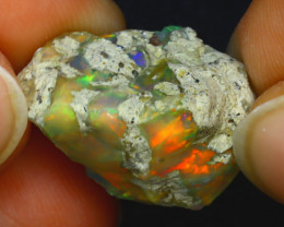 15.80Ct Multi Color Play Ethiopian Welo Opal Rough HR165/R2