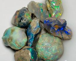 Super Bright Colourful Rough Nobby Opals - Carve/Cut