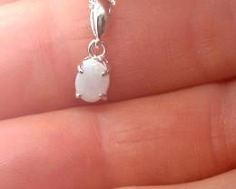 224378 Light Opal Silver Pendant
