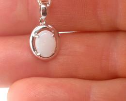 220726 Light Opal Silver Pendant