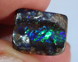 3.15 ct Boulder Opal With Natural Gem Blue Green Color