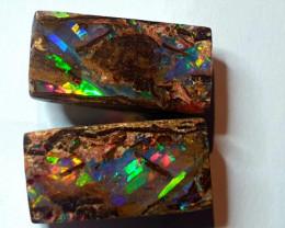 Boulder Opal Pairs from Jundah Queensland