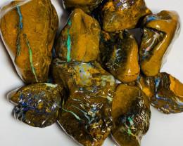 Multicolour Rough Koroit Matrix Boulder Opal to Cut