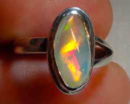 $1 NR Auction 6.2sz Natural Ethiopian Welo Opal .925 Sterling Silver