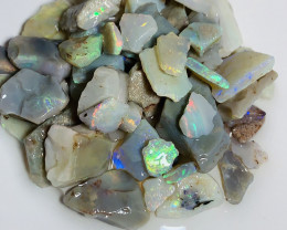 180 CTs Colourful Bright Rough Crystal Seam Opals to Cut #555