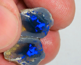 Black Nobby Opal Split with Tick Bright Clean Blue Colour Bar