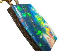 Australian Belemnite Opal Pendant 4.75ct 14k Doublet #D93