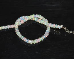 13.40 CT OPAL BRACELET MADE OF NATURAL ETHIOPIAN BEADS STERLING SILVER OBB1