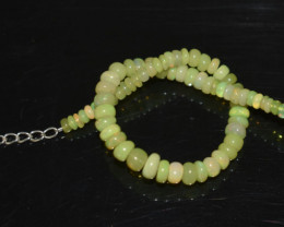 22.40 CT OPAL BRACELET MADE OF NATURAL ETHIOPIAN BEADS STERLING SILVER OBB1