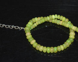 20.70 CT OPAL BRACELET MADE OF NATURAL ETHIOPIAN BEADS STERLING SILVER OBB2