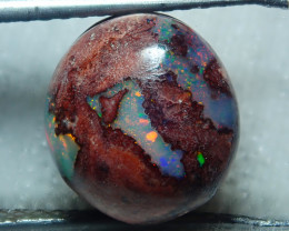 3.6ct $1 NR Auction Wire Wrap Ready Mexican Matrix Cantera Multicoloured Fi