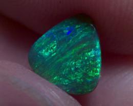 Lighting Ridge Solid Gem Black Opal, very unique pattern