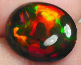 6.065 CRT GORGEUS SMOKED WELO CHAFF PATTERN UNIQUE COLOR WELO OPAL-