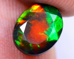 1.17cts Natural Ethiopian Welo Faceted Smoked Opal / NY1471
