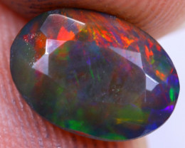 1.44cts Natural Ethiopian Welo Faceted Smoked Opal / NY1474