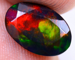 1.49cts Natural Ethiopian Welo Faceted Smoked Opal / NY1476