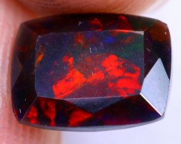 1.70cts Natural Ethiopian Welo Faceted Smoked Opal / NY1482