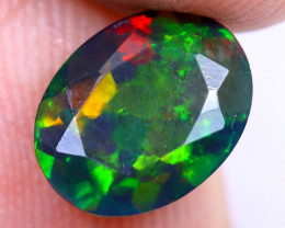 0.92cts Natural Ethiopian Welo Faceted Smoked Opal / NY1486