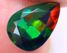 1.17cts Natural Ethiopian Welo Faceted Smoked Opal / NY1519