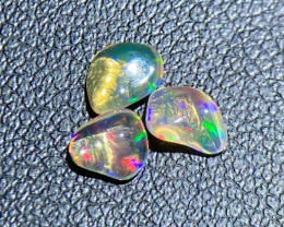 Jelly Fire opal 0.78 Cts Multi color polished thumble BGC1914