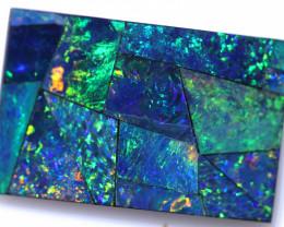 Gem Rectangular Shape Mosaic Opal Doublet   CCC 1825