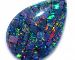 Tear Drop Shape Mosaic Opal Triplet    CCC 1867