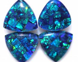 4.3 cts TWO Pair tri drop  Shape Mosaic Opal Triplets    CCC 1899